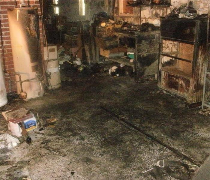 Fire Damaged Basement in Buffalo, NY Before