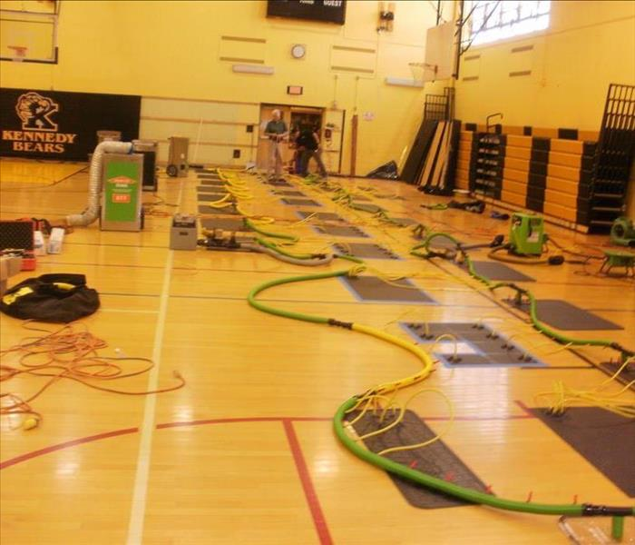 Flooded High School Gym in Buffalo, NY Before